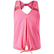 Lucky in Love Girls' Core Tie Knot Tank Top