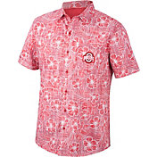 Top of the World Men's Ohio State Buckeyes Scarlet Button-Down Shirt