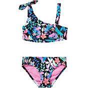 Speedo Girls' Print Tie Two Piece Swimsuit