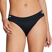 Speedo Women's Stripe Logo Bikini Bottoms