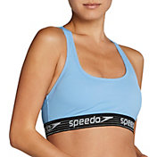 Speedo Women's Stripe Logo Bikini Top