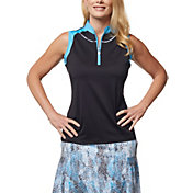 Sport Haley Women's Patsy Colorblock Sleeveless Golf Polo