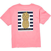 Simply Southern Girls' Pineapple Short Sleeve T-Shirt