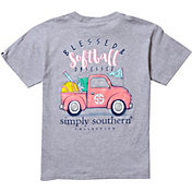 Simply Southern Girls' Softball Short Sleeve T-Shirt