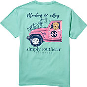 Simply Southern Women's Mountains Are Calling Short Sleeve T-Shirt