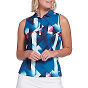 Slazenger Women's Bold Sleeveless Print Golf Polo