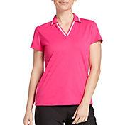 Slazenger Women's Ribbed Inset Short Sleeve Golf Polo