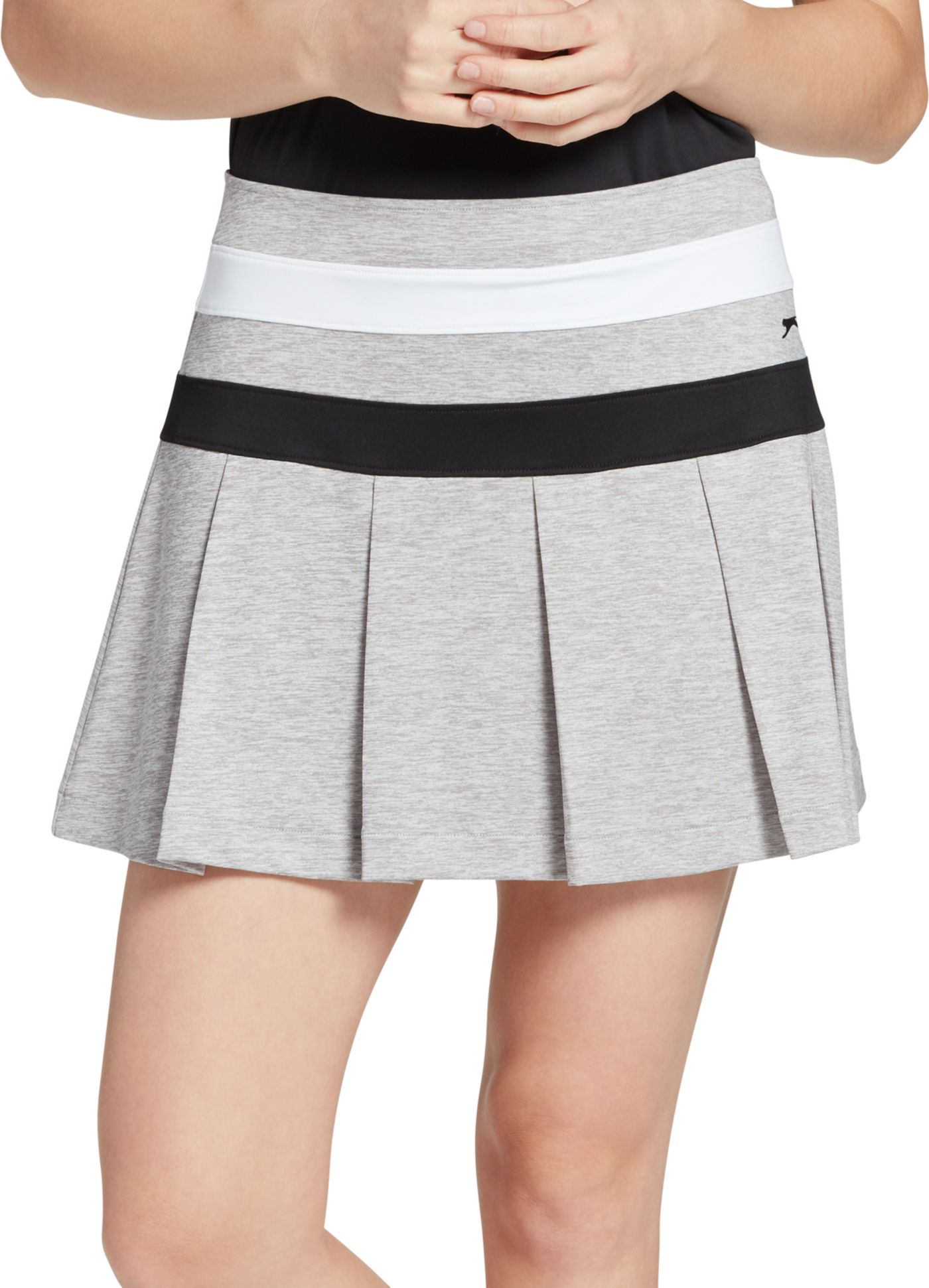 Slazenger Women's Night Stripe Pleated Heather Golf Skort