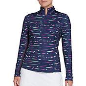 Slazenger Women's Prism Print Long Sleeve Golf Polo