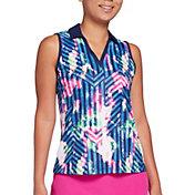 Slazenger Women's Prism Sleeveless Print Golf Polo