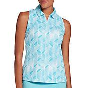 Slazenger Women's Refresh Printed Sleeveless Golf Polo