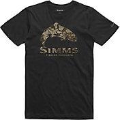 Simms Men's Trout Riparian Camo T-Shirt