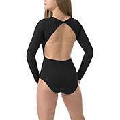 Soffe Women's Open Back Long Sleeve Leotard