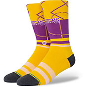 Stance Men's Los Angeles Lakers Cross Court Socks