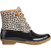 Sperry Women's Saltwater Animal Print Duck Boots