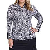 Tail Women's Mock Neck Long Sleeve Golf Pullover – Plus Size
