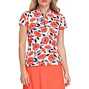 Tail Women's Bethany Mock Zip Neck Short Sleeve Shirt