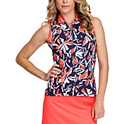 Tail Women's Printed ¼ Zip Sleeveless Golf Polo