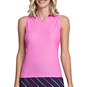 Tail Women's Mock V-Neck Sleeveless Golf Polo