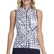 Tail Women's Mock Neck Sleeveless Golf Polo
