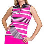 Tail Women's Mini Mock Sleeveless Polo Golf Top