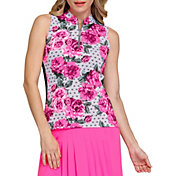 Tail Women's Sharon Novelty Zip Neck Sleeveless Shirt