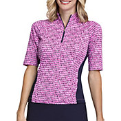 Tail Women's Mock Neck Short Sleeve Golf Polo