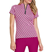 Tail Women's Michelle Mini Mock Neck Short Sleeve Shirt