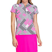 Tail Women's Bomber Collar Short Sleeve Golf Polo