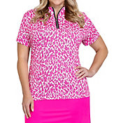 Tail Women's Mock Neck Short Sleeve Golf Polo – Plus Size