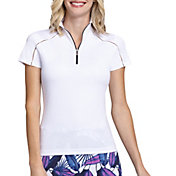 Tail Women's Funnel Neck Short Sleeve Golf Polo
