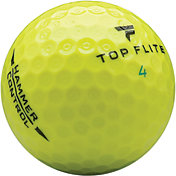 Top Flite 2020 Hammer Control Yellow Personalized Golf Balls – 15 Pack