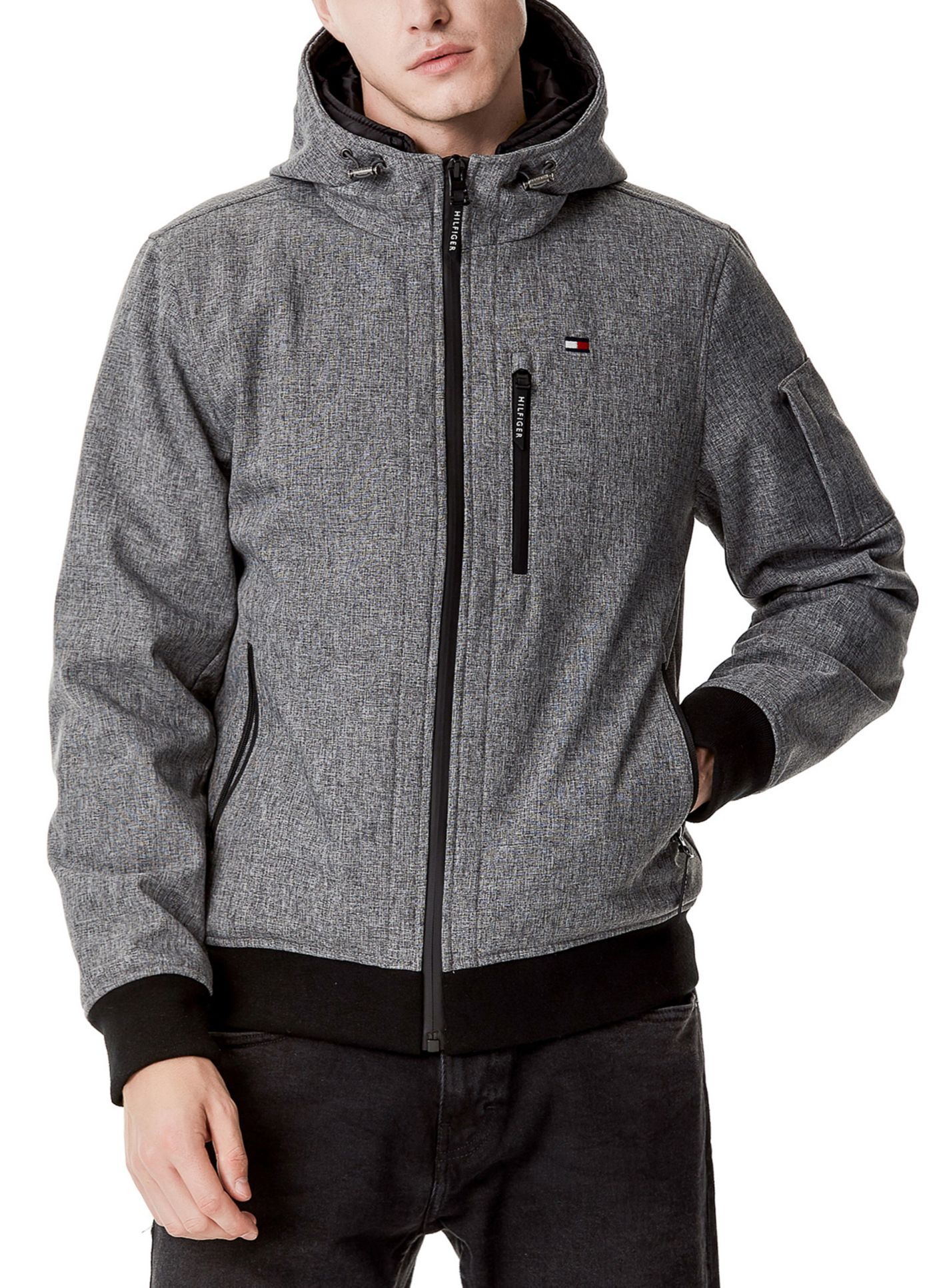 Tommy Hilfiger Men's Hooded Bomber Jacket