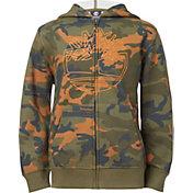Timberland Boys' Camo Long Sleeve Full Zip Hoodie