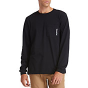 Timberland Men's Base Plate Blended Long Sleeve Pocket T-Shirt