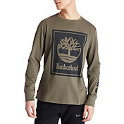 Timberland Men's Stack Logo Long Sleeve T-Shirt