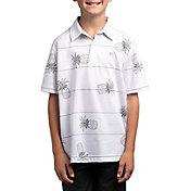 TravisMathew Boys' J Stacked Deck Polo Shirt
