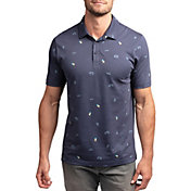 TravisMathew Men's Happy Thoughts Short Sleeve Golf Polo
