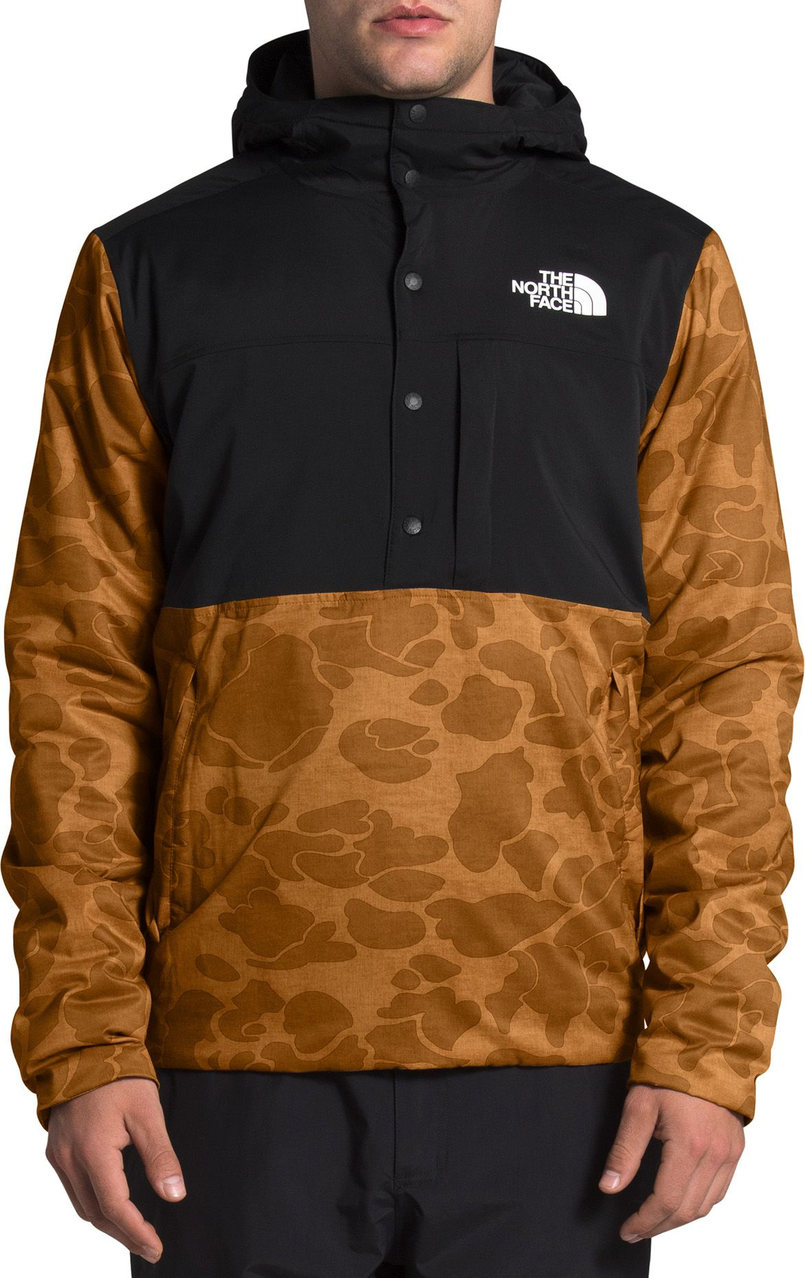 The North Face Men's Fallback 1/2 Snap Pullover Jacket, Medium, Timber Tan Duck Camo