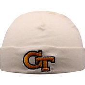 Top of the World Infant Georgia Tech Yellow Jackets Lil Tyke Cuffed Knit White Beanie