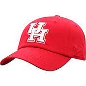 Top of the World Men's Houston Cougars Red Crew Washed Cotton Adjustable Hat