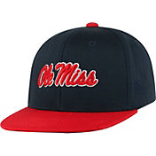 Top of the World Youth Ole Miss Rebels Blue Maverick Adjustable Hat