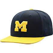 Top of the World Youth Michigan Wolverines Blue Maverick Two-Tone Adjustable Hat