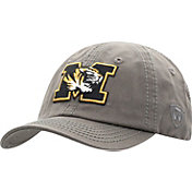 Top of the World Men's Missouri Tigers Grey Crew Washed Cotton Adjustable Hat