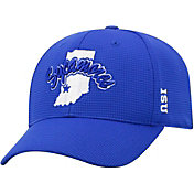 Top of the World Men's Indiana State Sycamores Grey Booster Plus 1Fit Flex Hat