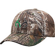 Top of the World Men's North Texas Mean Green Real Tree Camo RTX 1Fit Flex Hat