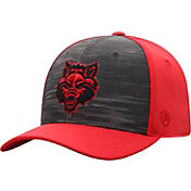 Top of the World Men's Arkansas State Red Wolves Grey/Scarlet Pepper 1Fit Flex Hat