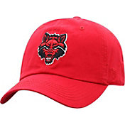 Top of the World Men's Arkansas State Red Wolves Scarlet Crew Washed Cotton Adjustable Hat