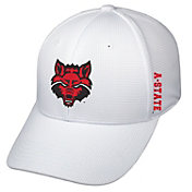 Top of the World Men's Arkansas State Red Wolves Booster Plus 1Fit Flex White Hat
