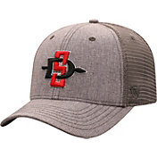 Top of the World Men's San Diego State Aztecs Grey ATM Adjustable Hat